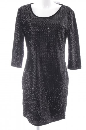 Only Vestido de lentejuelas negro elegante