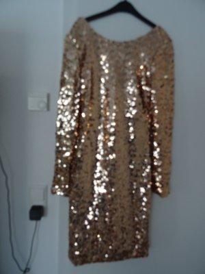Only Paillettenkleid gold Gr. S ungetragen