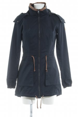 Only Parka donkerblauw simpele stijl