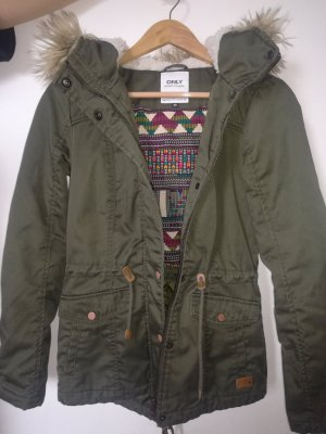 Only Parka forest green-khaki