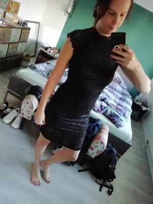 Only Partykleid Kleid Spitze Lace Lurex Bodycon M