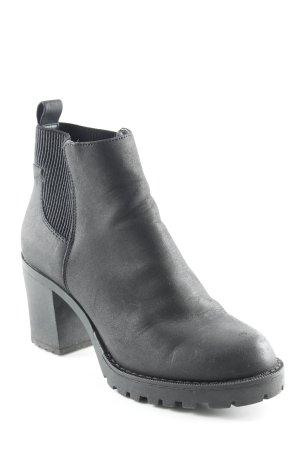 Only Plateau-Stiefeletten schwarz schlichter Stil