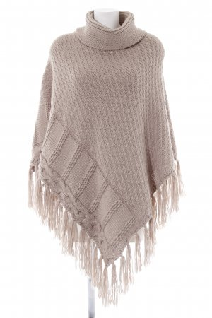 Only Poncho beige Casual-Look