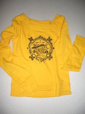 ONLY-Pulli, Sweatshirt, gelb, Gr. M, Druck, NP 35€