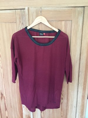Only Sweater met korte mouwen bordeaux