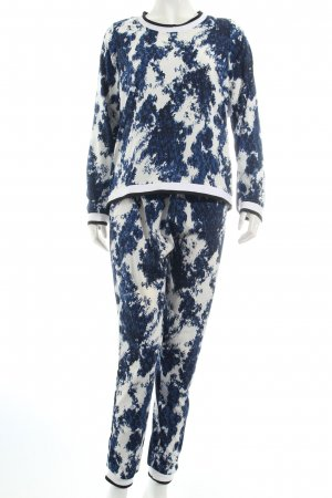 Only Pullover blau-weiß abstraktes Muster Casual-Look