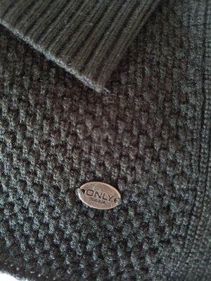 ONLY Pullover, gehäkelt, dunkelgrün, Gr.XS