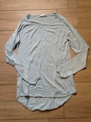 Only Pullover Langarmshirt Vokuhila Größe S hellblau