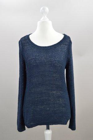 Only Pullover locker geschnitten Strick blau Größe M