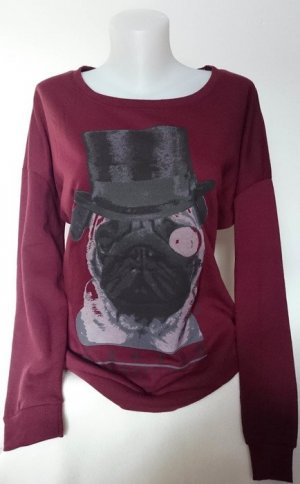 Only Pullover mit Mops (Gr. S), Neu!