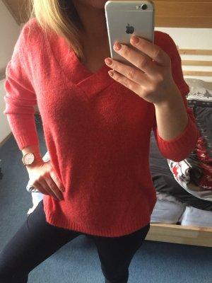 Only Pullover rot V-Ausschnitt