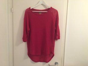 Only Pullover S 36 pink Beere Dreiviertel Arm sexy Frühjahr Shirt top Pulli