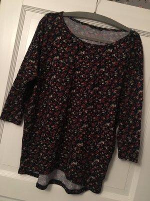 Only Pullover schwarz Blumen Gr. M