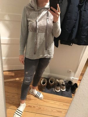 Only Long Sweater silver-colored-grey