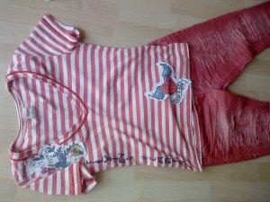 ONLY Ringelshirt rot/weiß Größe M
