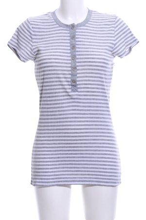 Only Chemise côtelée gris clair-blanc moucheté style décontracté