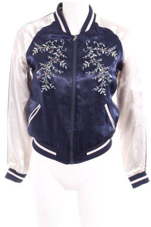 Only Ripstop jack donkerblauw-lichtroze bloemenprint