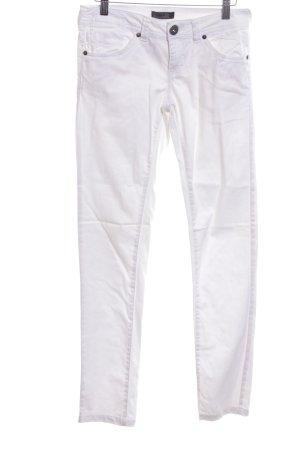 Only Pantalón de tubo blanco look casual