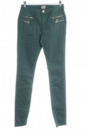 Only Drainpipe Trousers forest green-gold-colored biker look