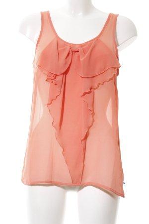 Only Camicetta con arricciature arancione chiaro elegante