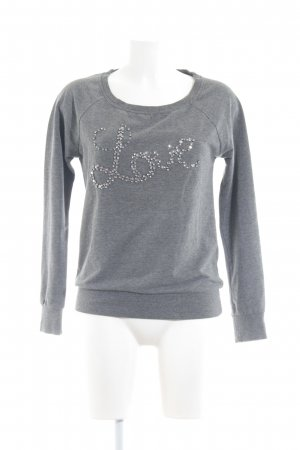 Only Rundhalspullover grau Casual-Look
