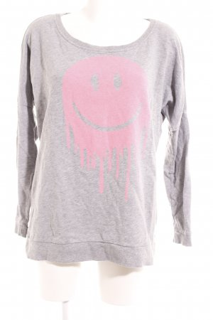 Only Rundhalspullover grau-pink Casual-Look