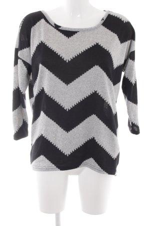 Only Kraagloze sweater lichtgrijs-zwart casual uitstraling