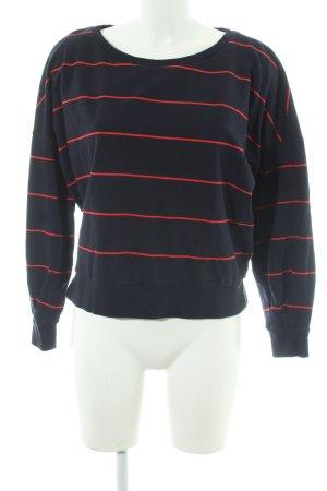 Only Rundhalspullover rot-dunkelblau Streifenmuster Casual-Look