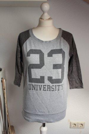ONLY S 36 38 Cooles Sweatshirt Langarmshirt College grau Schwarz Damen Mädchen