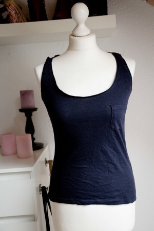 ONLY S 36 Damen Top Tanktop dunkelblau blau basic classic Oberteil Büro Business