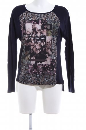 Only Slip-over Blouse black-pink abstract pattern casual look