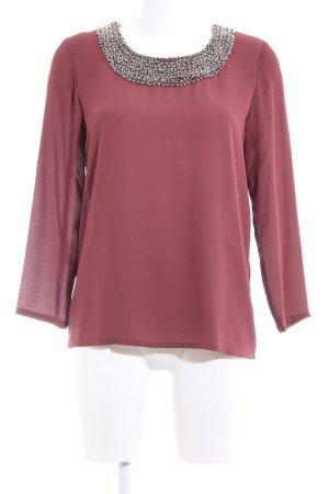 Only Slip-over blouse rood zakelijke stijl