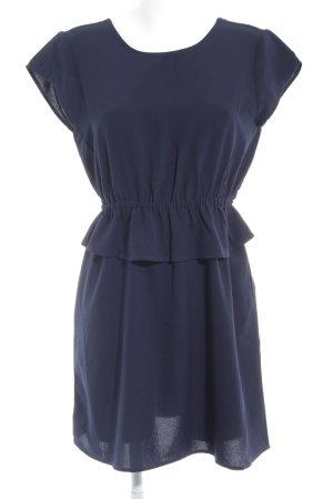 Only Peplum jurk donkerblauw casual uitstraling