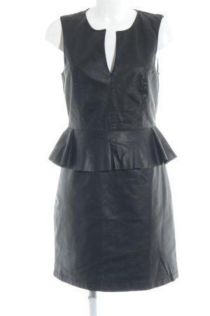 Only Schößchenkleid schwarz Elegant