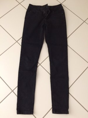 Be only Drainpipe Trousers black-cadet blue cotton