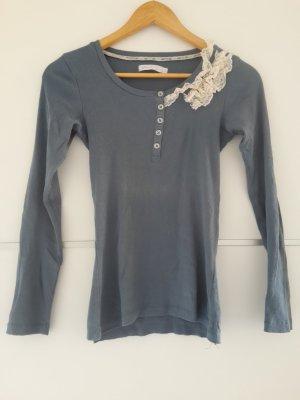 Only Shirt blau weiß Spitze
