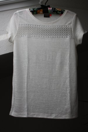 ONLY Shirt Feinstrick mit Häkeldetail S weiß