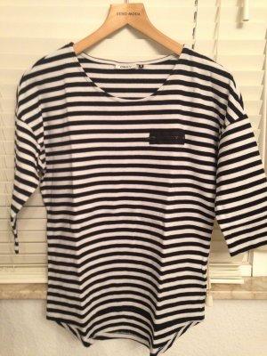 Only-Shirt gestreift Schwarz/Weiß Gr. S
