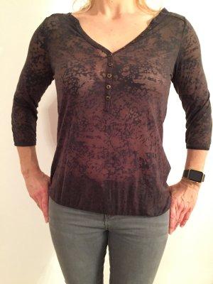 Only Shirt im Transparent-Look/Ausbrenner-Optik  in Größe S