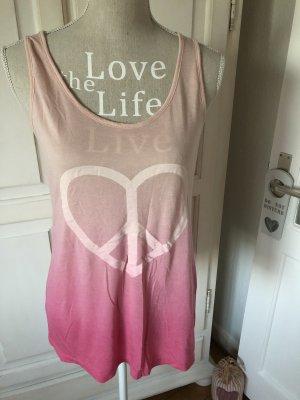 Only Shirt mit einem Herz rosa Batik