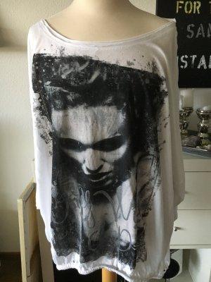 Only Shirt mit Print Weiss Gr. M