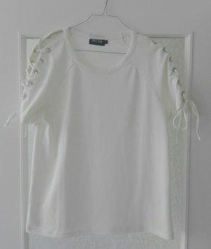 Only Shirt mit Schnürdetails