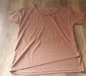 Only Shirt Oversize Boyfriend Loose Fit Nude Terracotta asymmetrisch M
