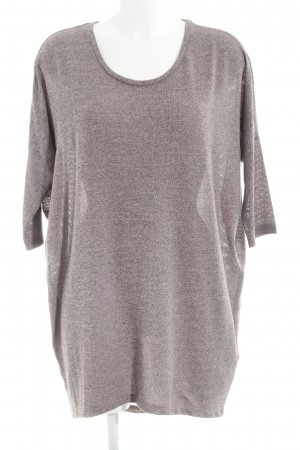 Only T-shirt jurk mauve-donkerpaars gestippeld casual uitstraling
