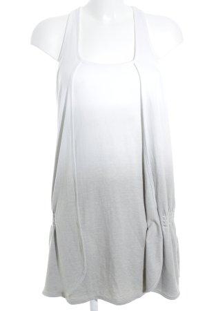 Only Shirtkleid wollweiß-hellgrau Farbverlauf schlichter Stil