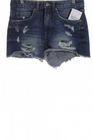 Only Shorts stahlblau Street-Fashion-Look