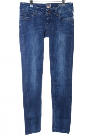 Only Skinny Jeans blau Street-Fashion-Look