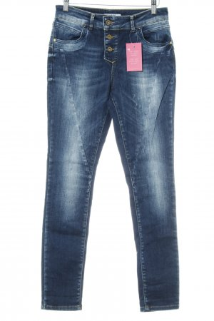 Only Skinny Jeans blau Used-Optik