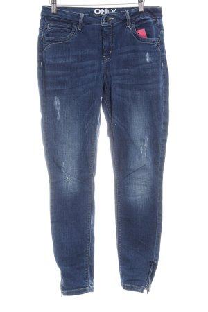 Only Skinny Jeans dunkelblau-blau Used-Optik