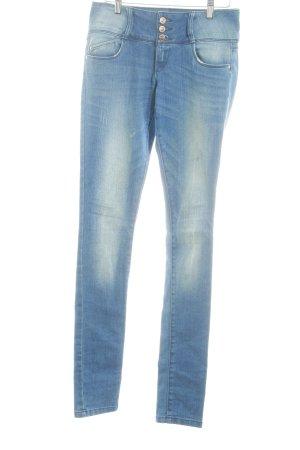 Only Skinny Jeans dunkelblau Washed-Optik